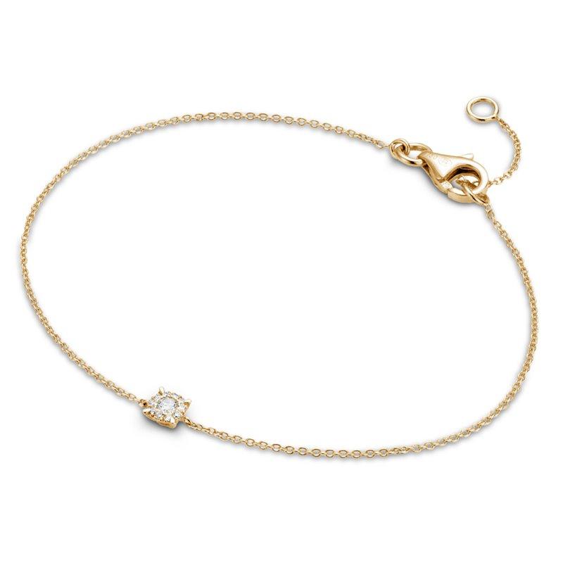 18k Yellow Gold Diamond Bracelet , Adele