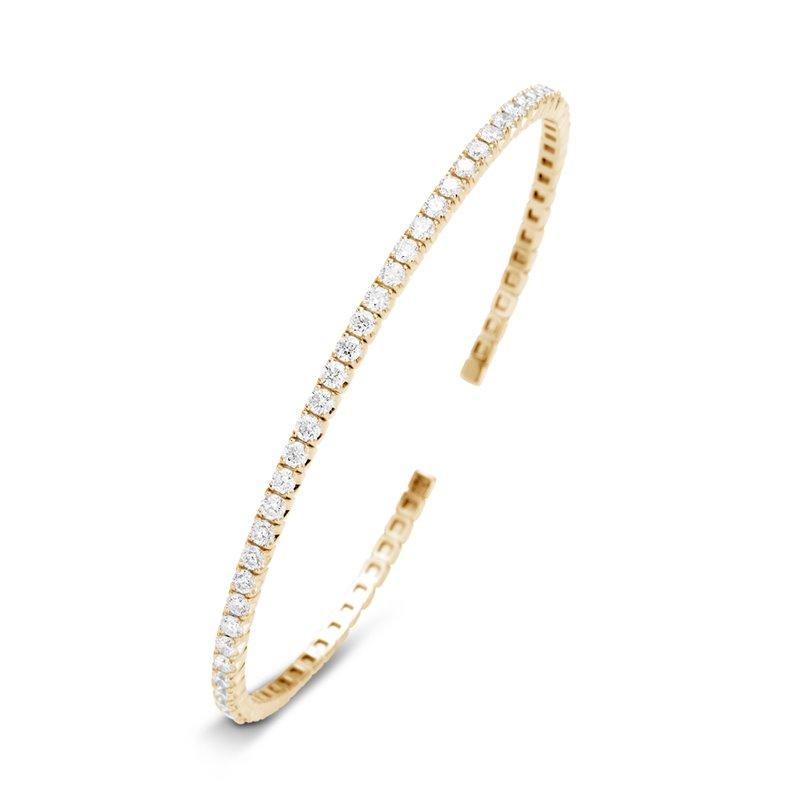 18k Yellow Gold Diamond Bracelet , Marguerite