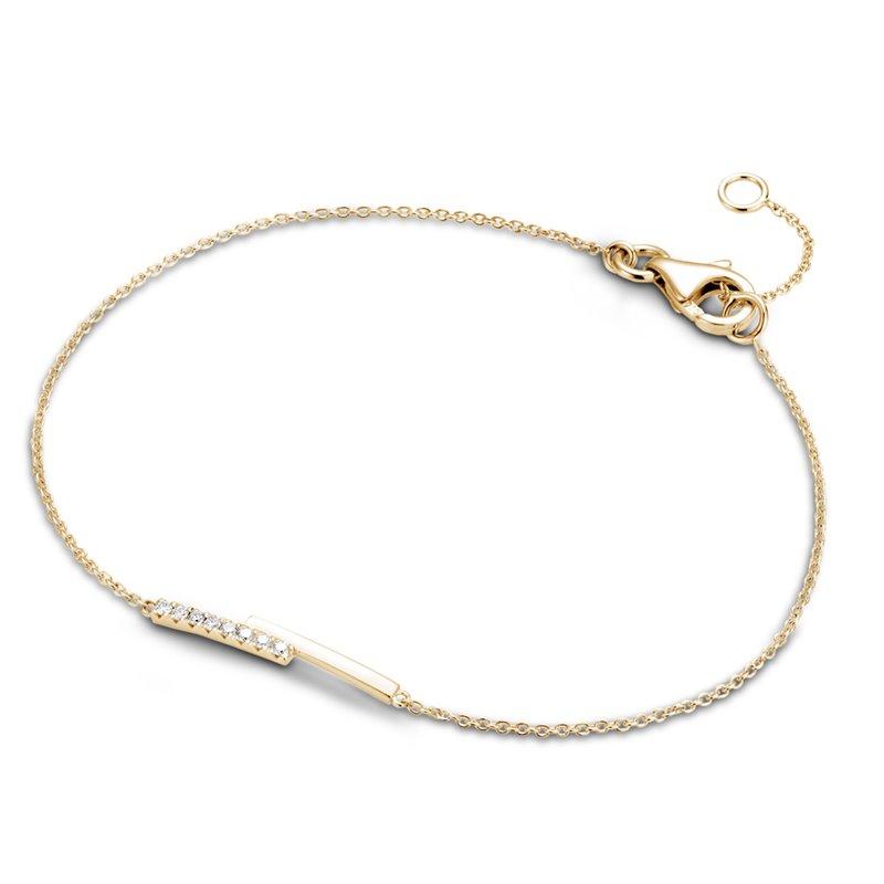 18k Yellow Gold Diamond Bracelet , Chiara