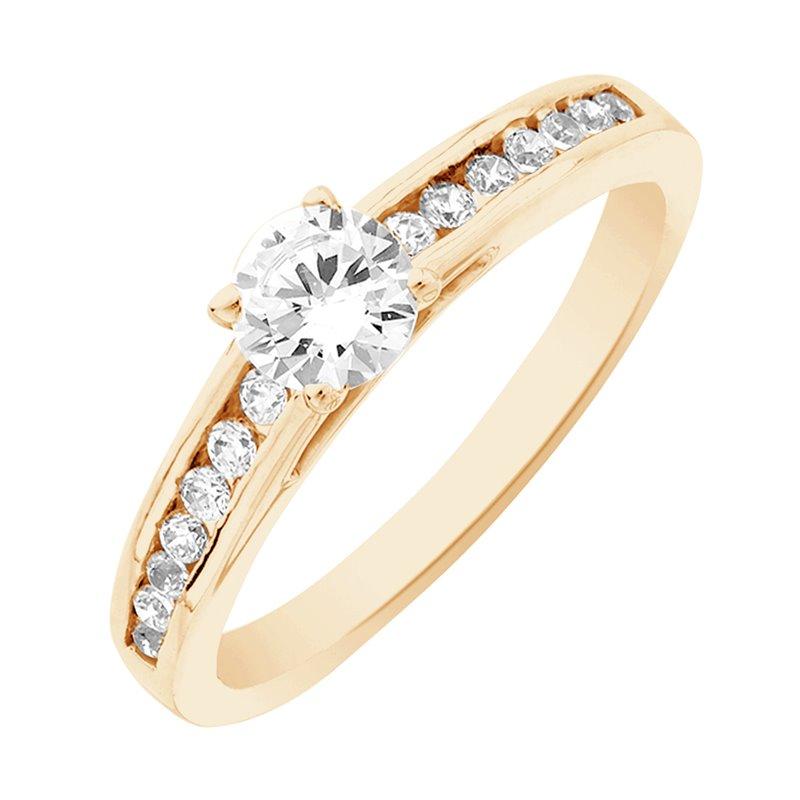 Solitaire Or jaune, Diamant , Aerin 0.40 Ct