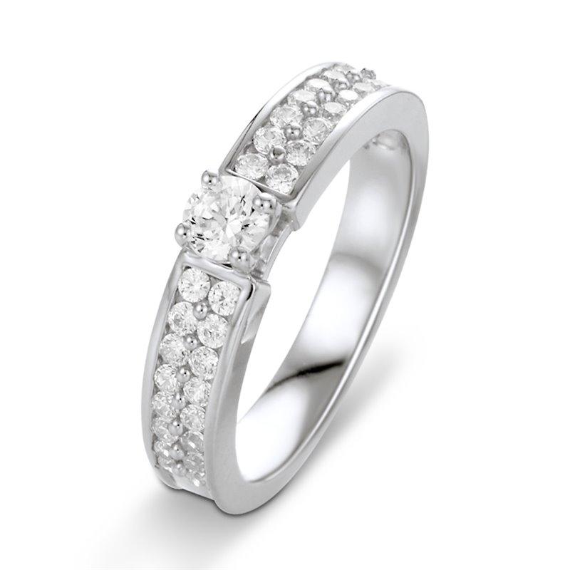 18k White Gold Diamond Engagement Ring , Gabrielle