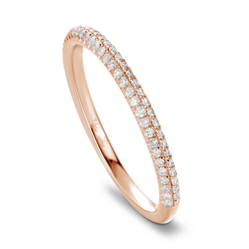 18k Rose Gold Diamond Eternity ring , Lou