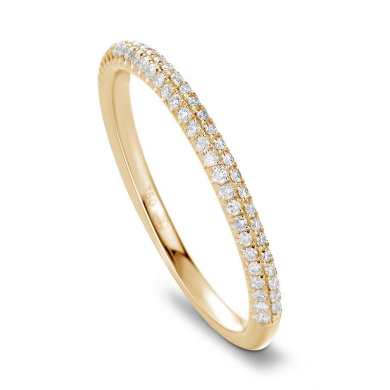 18k Yellow Gold Diamond Eternity ring , Lou