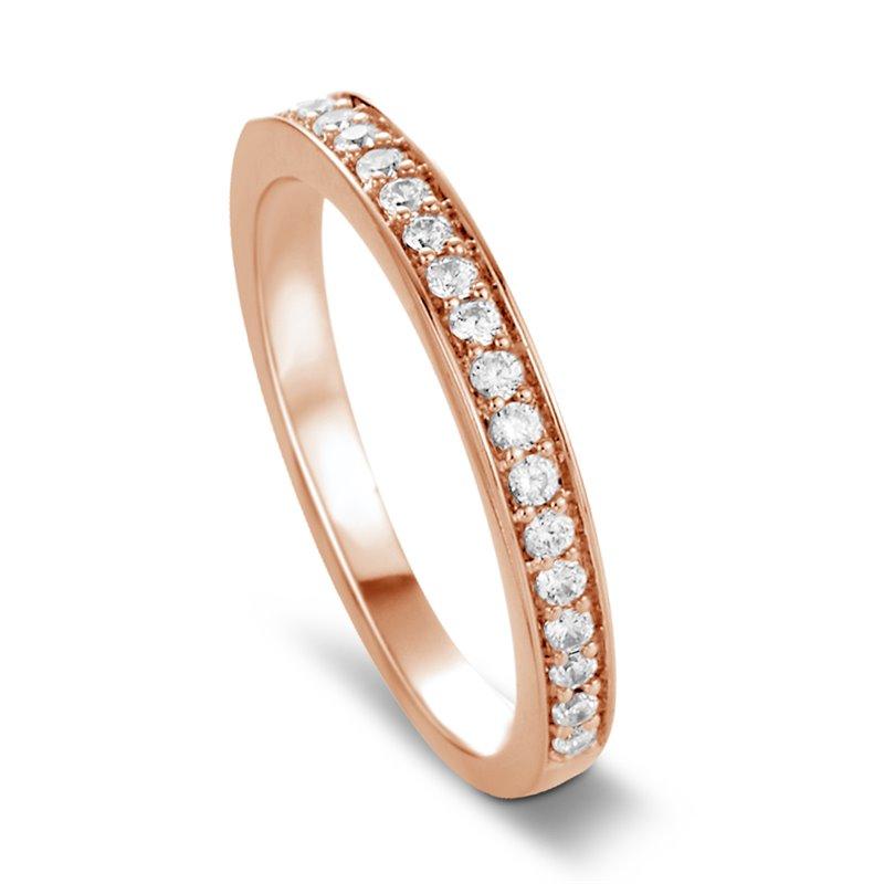 Bague alliance or rose, Diamants , Cleo