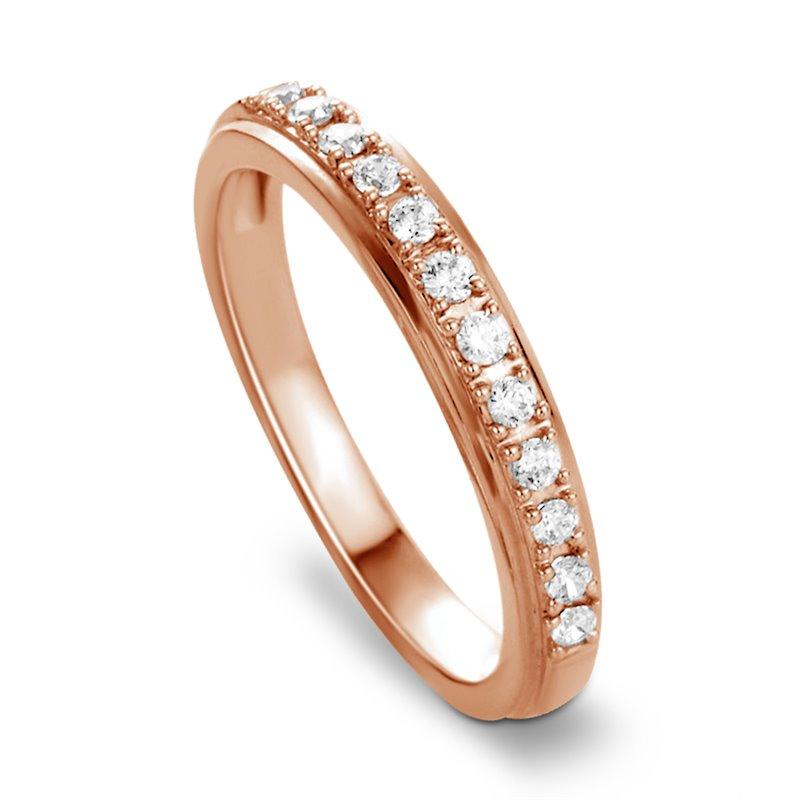 18k Rose Gold Diamond Eternity Ring , Aurore