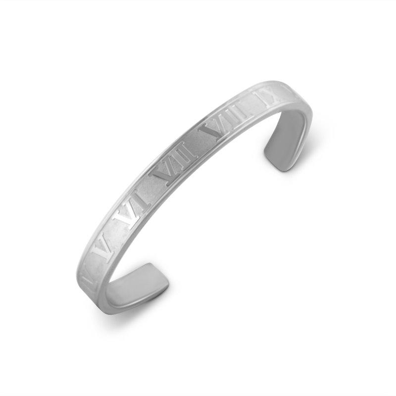 Bracelet Bangle Rhodié pour Homme , Polo