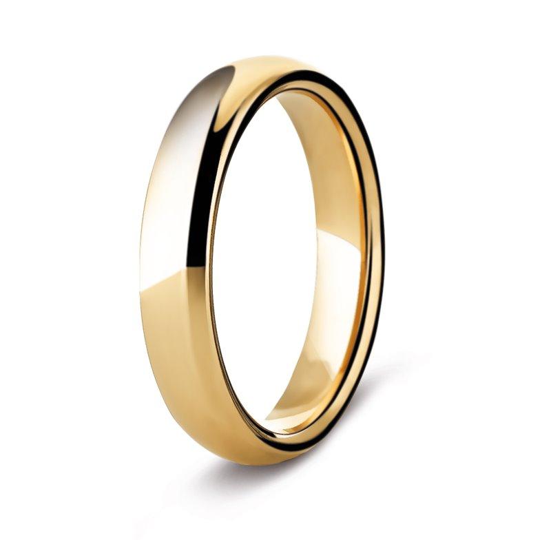 Yellow Gold Wedding Ring , Orsay 4 mm