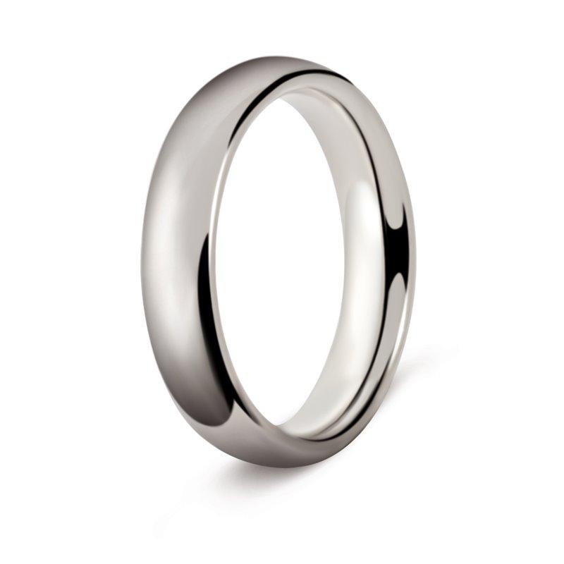 White Gold Wedding Ring , Orsay 4 mm