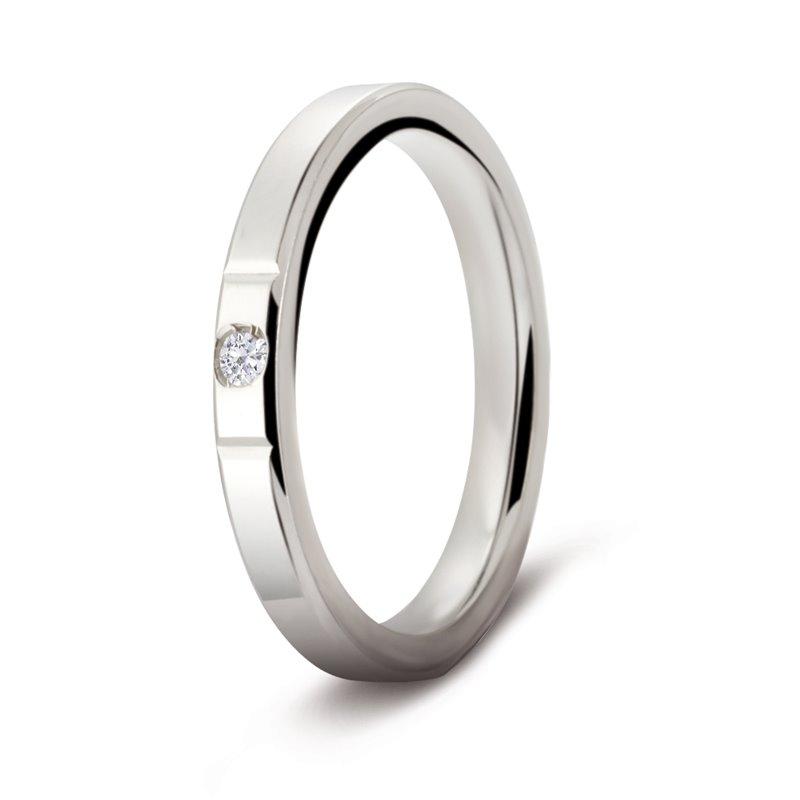 White Gold Diamond Wedding Ring , Montaigne Diamant