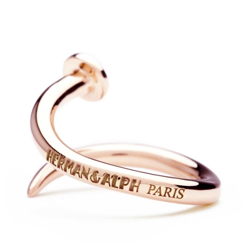 18k Rose Gold Ring , C' le clou