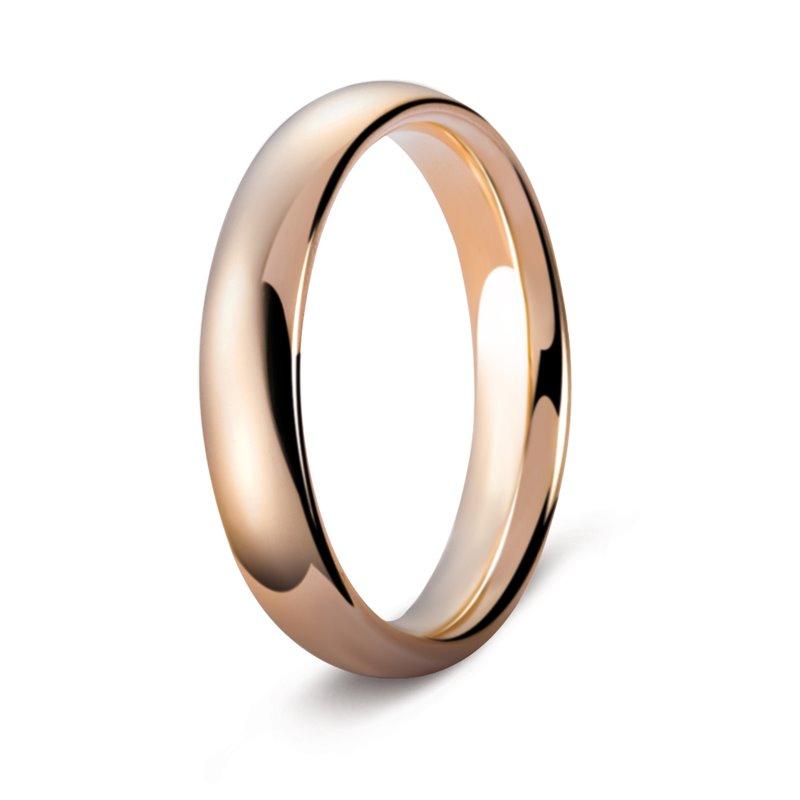 Rose Gold Wedding Ring , Orsay 4 mm