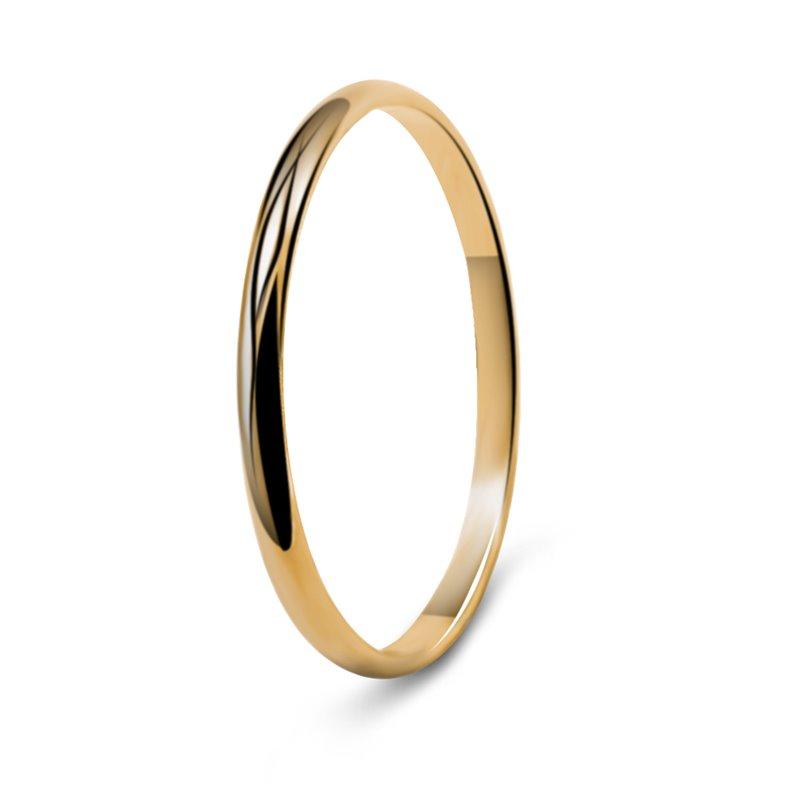 Yellow Gold Wedding Ring , Julia 1.8.mm