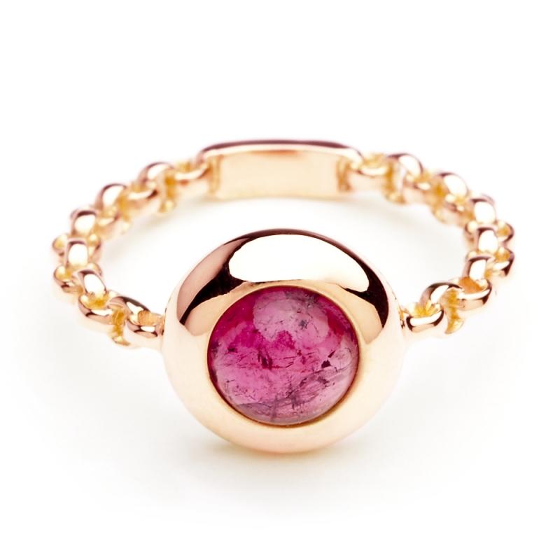 18k Rose Gold Tourmaline Ring , C'TESS
