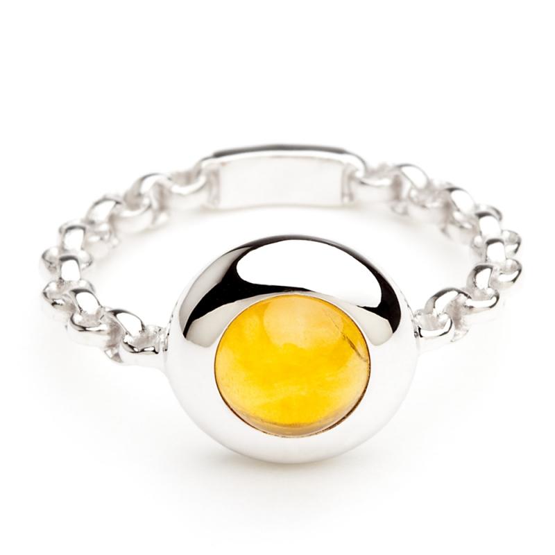 18k White Gold Palmeira Citrine Ring , C'TESS