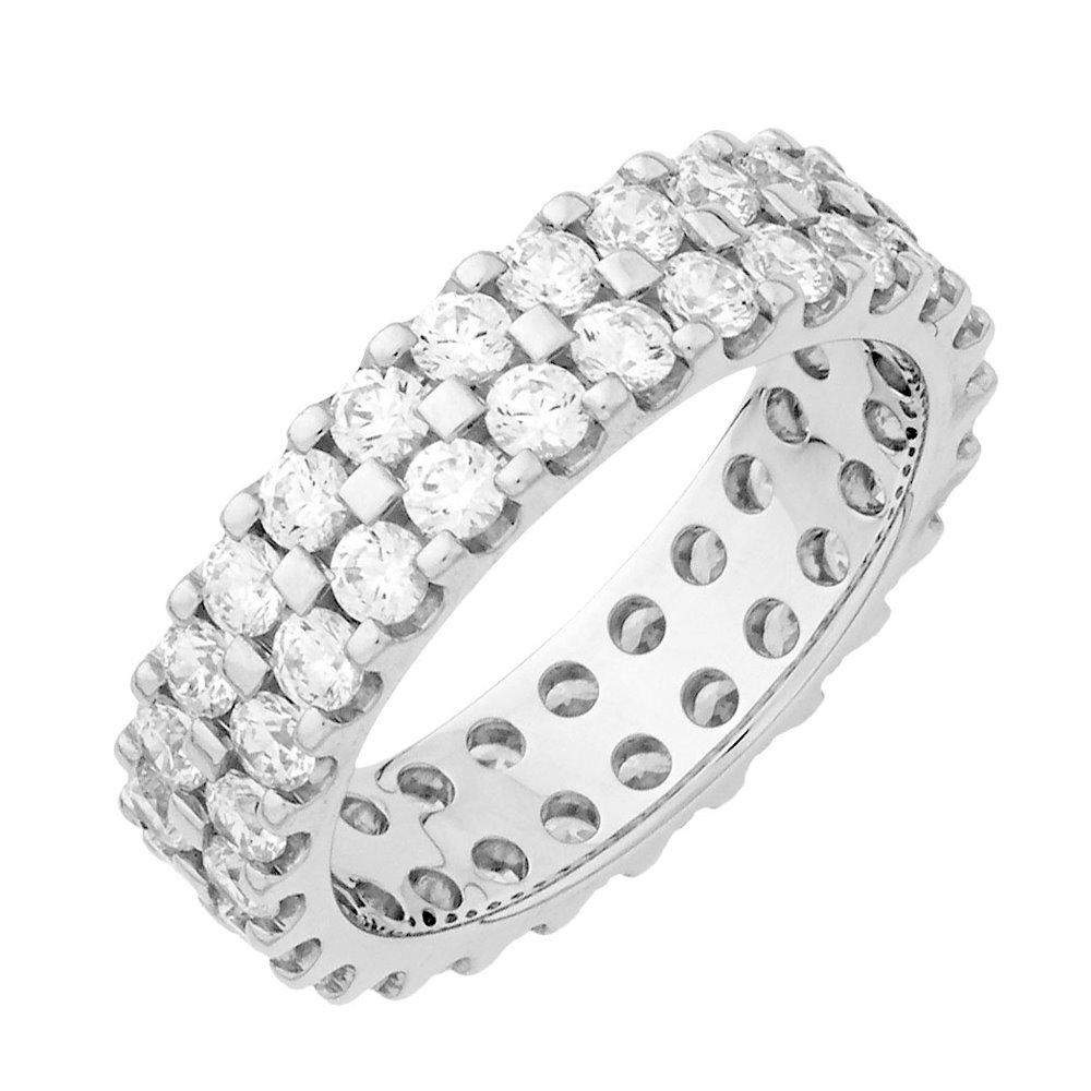 Alessandra alliance tour complet or blanc et diamants 1.5 carats diveene joaillerie