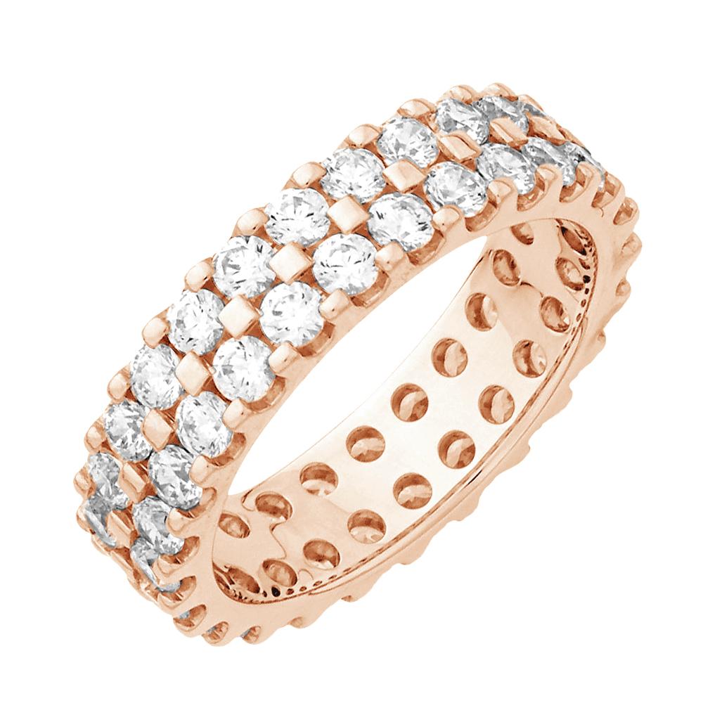 Alessandra alliance tour complet or rose et diamants 1.5 carats diveene joaillerie