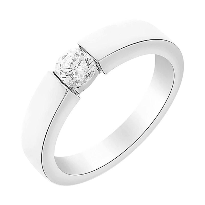 18k White Gold Diamond Solitaire Ring , Mischa 0.25 CT