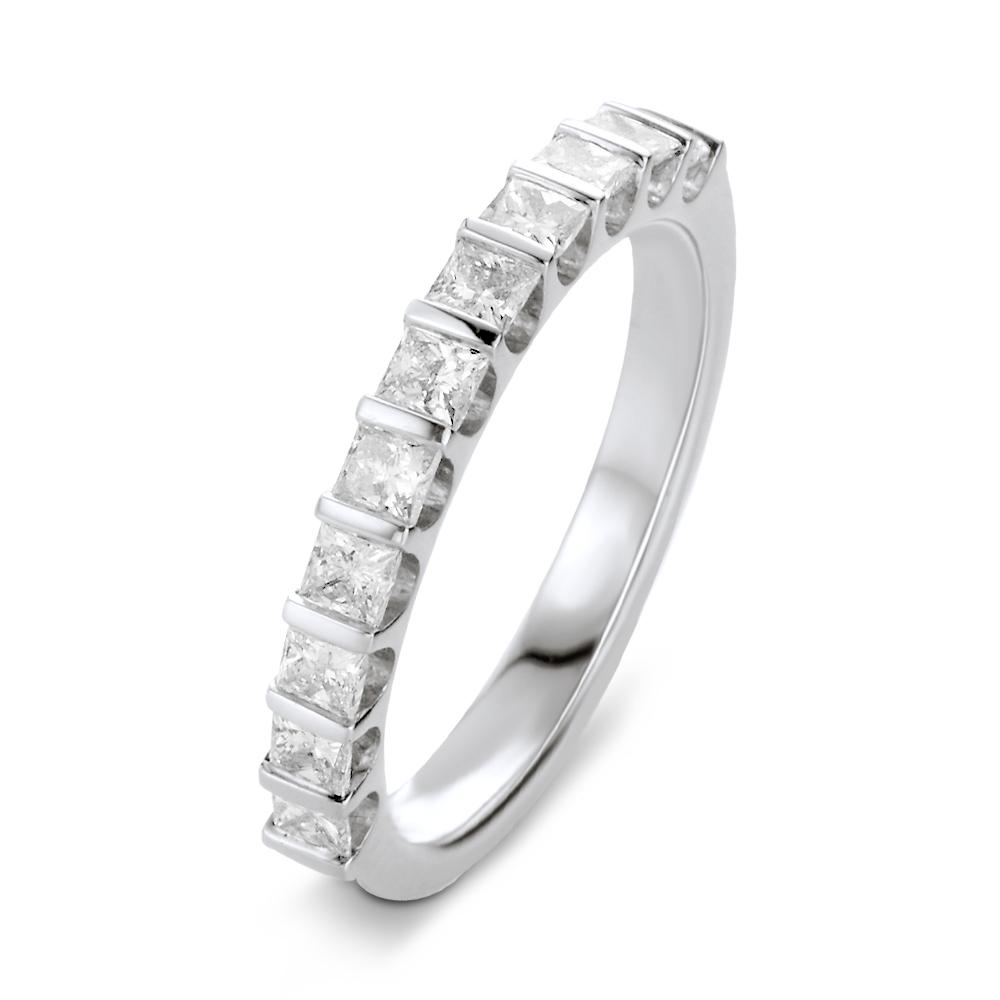 Lauren alliance demi tour or blanc et diamants Princesse 0.33 carat diveene joaillerie