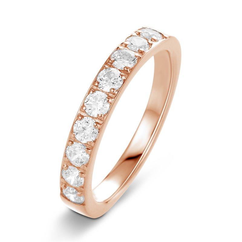 18k Rose Gold Diamond Eternity ring , Forever 0.30 CT