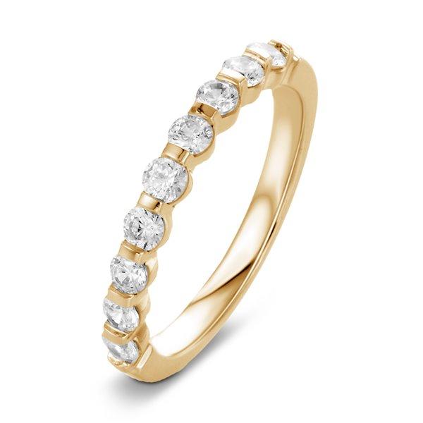 Marion Bague alliance demi tour or jaune et diamants 0.50 carat diveene joaillerie