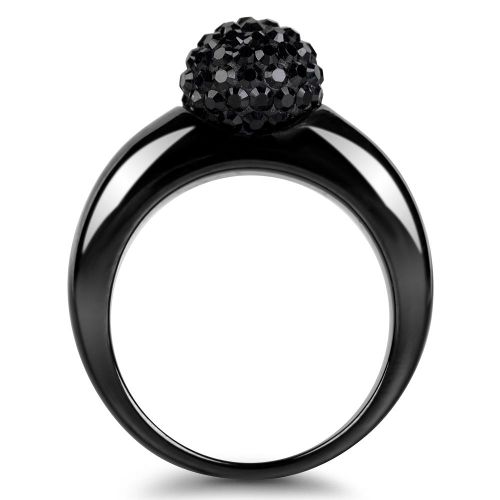 twist black extase bague ceramique et cristal swarovski diveene paris