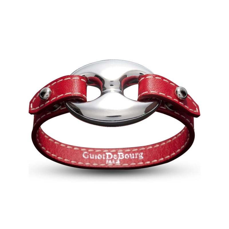 Bracelet en cuir, Argent, Scorpio