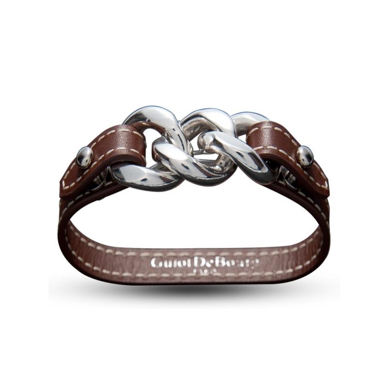 Bracelet en cuir, Argent, Astral