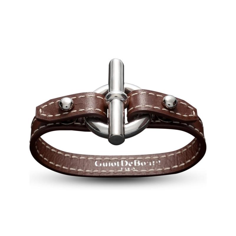 Bracelet en cuir, Argent, Cancer