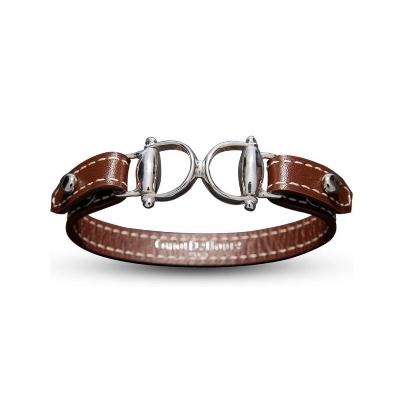 Bracelet en cuir, Argent , Taurus
