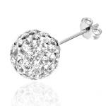 boucles d'oreilles en argent et cristal swarovski crystal glam diveene bijouterie