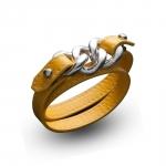 Bracelet double tour cuir et argent