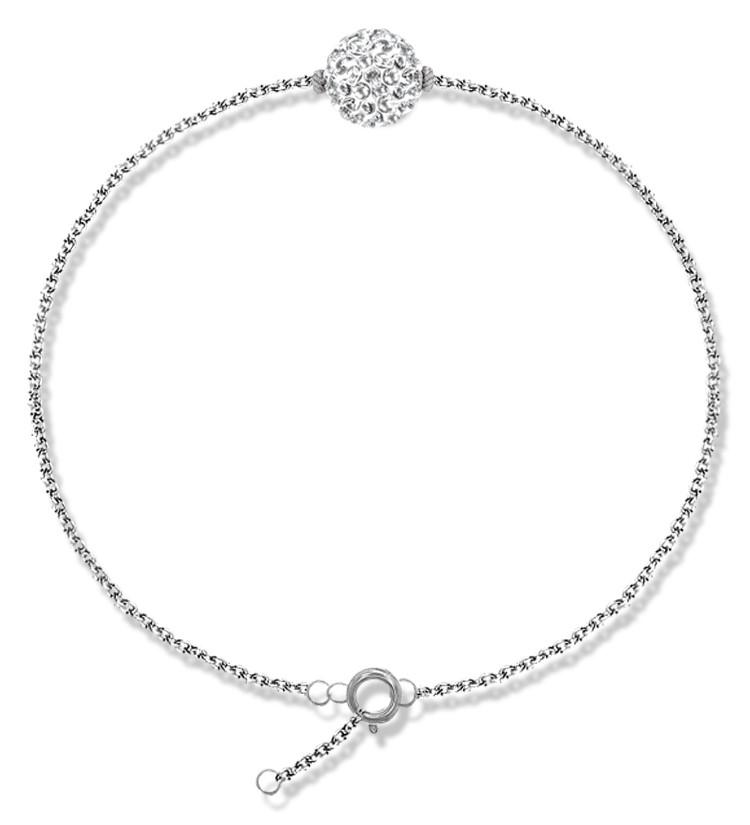 Lady Glam - Bracelet en argent et cristal Swarovski