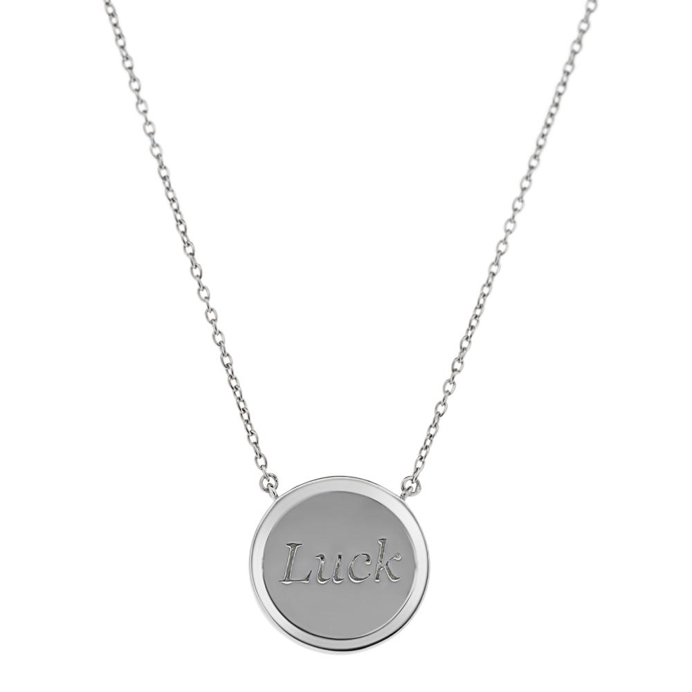 Lucky - Collier argent et diamant